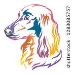 colorful decorative portrait of ... | Shutterstock .eps vector #1283085757