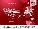 valentines day. vector... | Shutterstock .eps vector #1283086177
