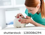 closeup of young doctor... | Shutterstock . vector #1283086294