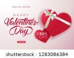 valentines day. vector... | Shutterstock .eps vector #1283086384