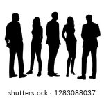 set of vector silhouettes of ... | Shutterstock .eps vector #1283088037