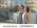 side view portrait of a happy... | Shutterstock . vector #1283088811