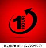 one hour arrow icon | Shutterstock .eps vector #1283090794