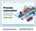 automation processes in the... | Shutterstock .eps vector #1283092624