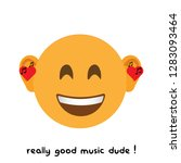 the music emoji modern vector...