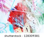 colorful watercolor texture. | Shutterstock . vector #128309381
