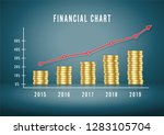 financial chart up. infographic ... | Shutterstock .eps vector #1283105704