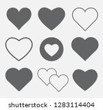 hearts icon set concept of love ... | Shutterstock .eps vector #1283114404