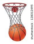 basketball through net is an... | Shutterstock . vector #128312495