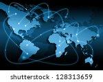 best internet concept of global ... | Shutterstock . vector #128313659