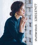 portrait of beautiful young... | Shutterstock . vector #1283137477