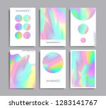 abstract multicolored covers... | Shutterstock .eps vector #1283141767