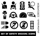 safety driving theme vector... | Shutterstock .eps vector #1283149834