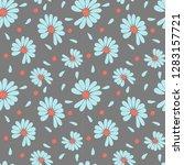chamomile flowers for fortune...   Shutterstock .eps vector #1283157721