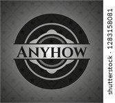 anyhow black emblem   Shutterstock .eps vector #1283158081