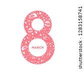 march 8. international women's... | Shutterstock .eps vector #1283158741