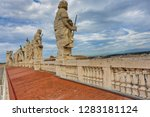 a back view of the sculptures... | Shutterstock . vector #1283181124