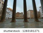 view of pantheon basilica in... | Shutterstock . vector #1283181271