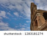 colosseum in rome  italy.... | Shutterstock . vector #1283181274