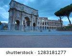 colosseum in rome  italy.... | Shutterstock . vector #1283181277