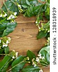 frame made from flowers and... | Shutterstock . vector #128318939