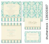 set of wedding invitations and... | Shutterstock .eps vector #128320307