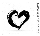 hand drawn heart. black... | Shutterstock .eps vector #1283204974