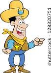 cartoon illustration of a... | Shutterstock .eps vector #128320751