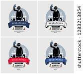 scientist and lab logo design.... | Shutterstock .eps vector #1283213854