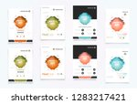 abstract vector business... | Shutterstock .eps vector #1283217421
