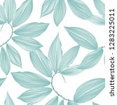 seamless floral background with ... | Shutterstock .eps vector #1283225011