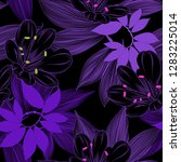 luxurious purple pattern with... | Shutterstock .eps vector #1283225014