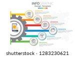 infographics for business... | Shutterstock .eps vector #1283230621