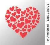 hearts illustration for... | Shutterstock .eps vector #1283230771