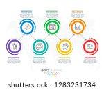 infographic template design... | Shutterstock .eps vector #1283231734