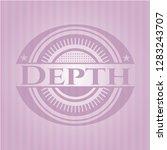 depth pink emblem. retro | Shutterstock .eps vector #1283243707