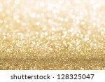 gold defocused glitter... | Shutterstock . vector #128325047