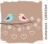 couple of cute birds. card for...