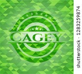 Cagey Green Emblem With...