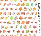 various images set. background... | Shutterstock .eps vector #1283264974