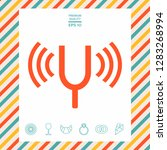 tuning fork icon. graphic... | Shutterstock .eps vector #1283268994