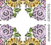 beautiful floral frame. vector... | Shutterstock .eps vector #1283276731
