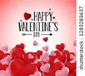 happy valentine's day love... | Shutterstock .eps vector #1283283637