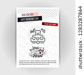 valentine's day love poster... | Shutterstock .eps vector #1283287864