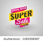 super sale  mega. this weekend... | Shutterstock .eps vector #1283308387