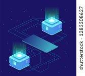 digital science concept  server ...