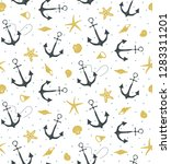 graphic seamless pattern on... | Shutterstock .eps vector #1283311201