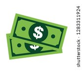 modern dollar sign vector.... | Shutterstock .eps vector #1283311924