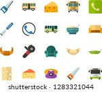 color flat icon set   cheese... | Shutterstock .eps vector #1283321044
