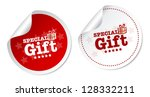special gift stickers | Shutterstock . vector #128332211